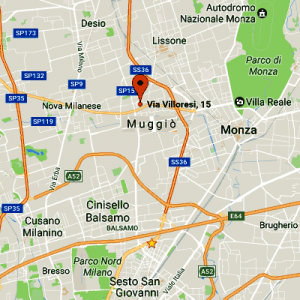 Mappa Accud Italia c/o Sermac srl.