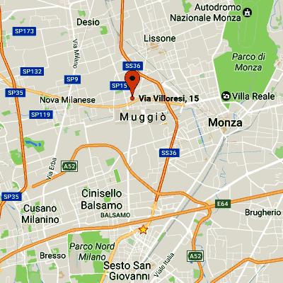 Come arrivare ad Accud Italia c/o Sermac Srl.