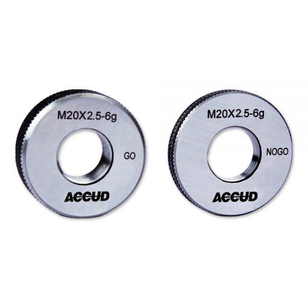 Anelli filettati passa e non passa - Cod. Accud 532/533/534/535-000-00.