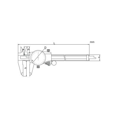 Schema di calibro con orologio – Cod. Accud 103-000-11/21.