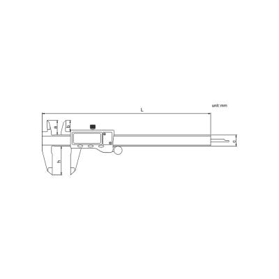 Schema di calibro digitale - Cod. Accud 111-000-16
