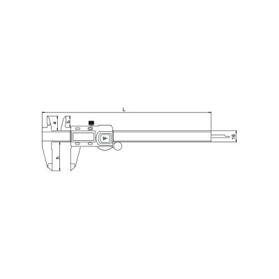 Schema di calibro digitale high quality – Cod. Accud 111-000-17.