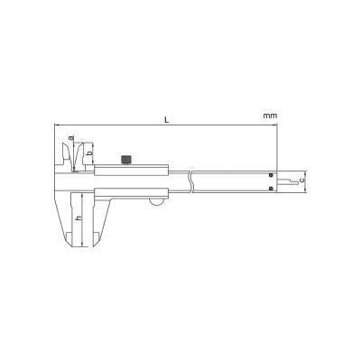 Schema di calibro con nonio – Cod. Accud 120-000-12/14.