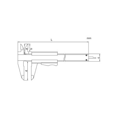 Schema di calibro con nonio – Cod. Accud 124-000-12/1.