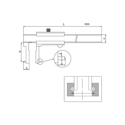 Schema di calibro con nonio per cave interne – Cod. Accud 146-000-11/13.