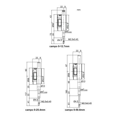 Schema di comparatore digitale doppia lettura - Cod. Accud 211-000-01/11.