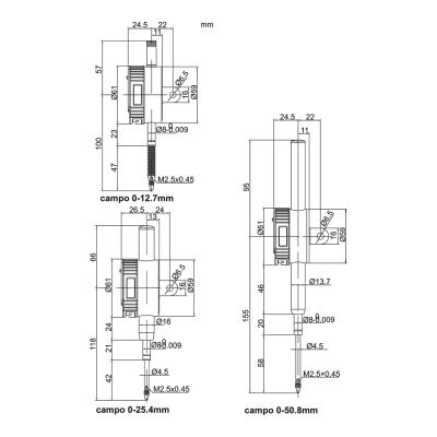 Schema di comparatore digitale IP65 e IP54 – Cod. Accud 213-000-01/11.
