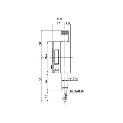 Schema di comparatore digitale corsa 5mm – Cod. Accud 214-000-01/11.