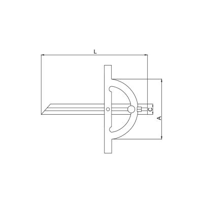 Schema di goniometro – Cod. Accud 813-000-01.