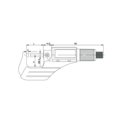 Schema di micrometro digitale – Cod. Accud 312-000-02.