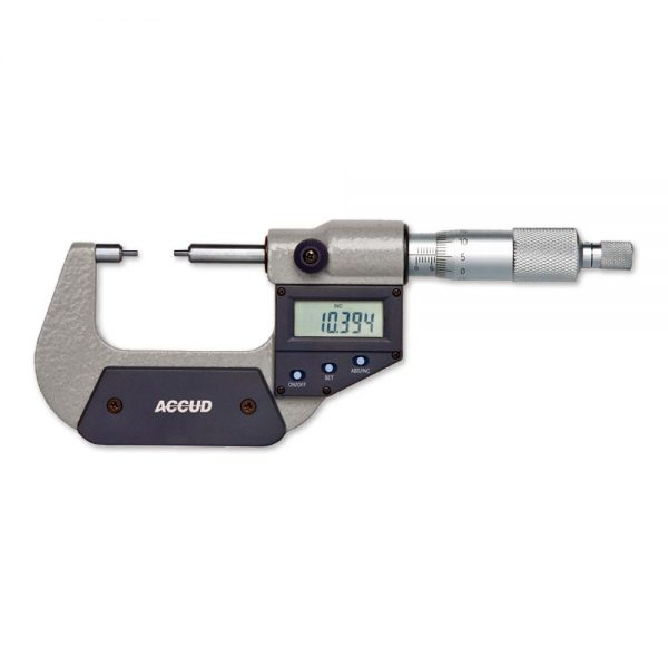 Micrometro digitale con steli ribassati – Cod. Accud 318-000-01/02.