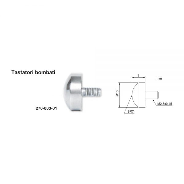 Tastatore bombato – Cod. Accud 270-003-00.