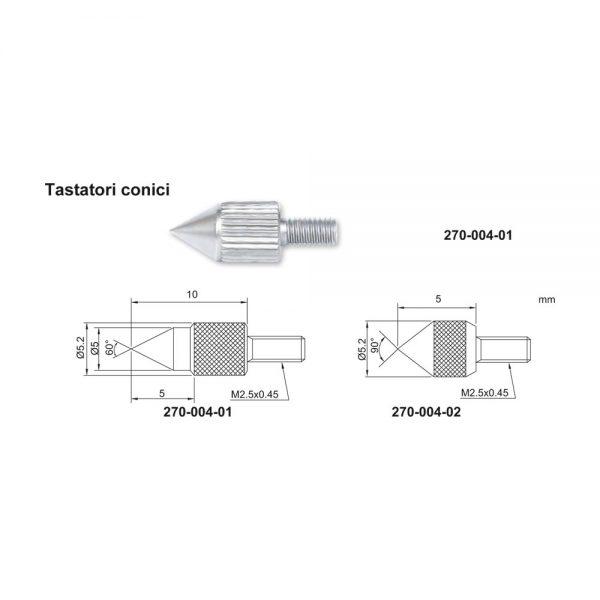 Tastatore conico – Cod. Accud 270-004-00.